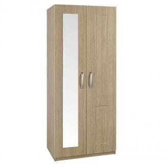 Tall Robe with Mirror - Oak-0