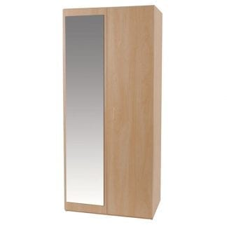 Budget - Double Robe with Mirror - Woodgrain-0