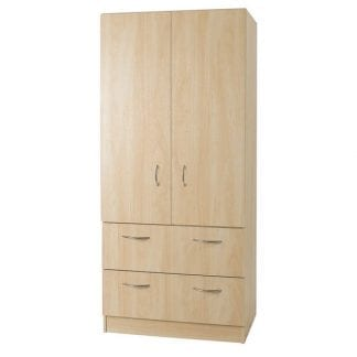 Budget - 2 Drawer Combi Robe - Woodgrain-0