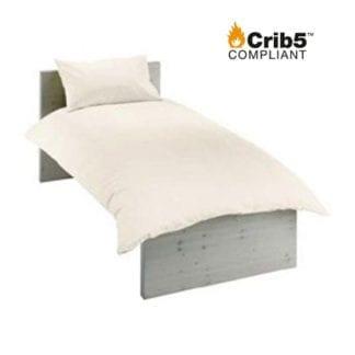 crib 5 single bedding pack cream