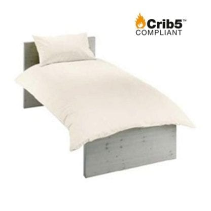 crib 5 single bedding pack cream