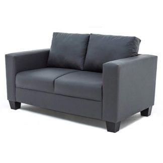2-seater-PVC-sofa-grey-