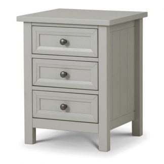 Maine-3-Drawer Bedside---Dove-Grey