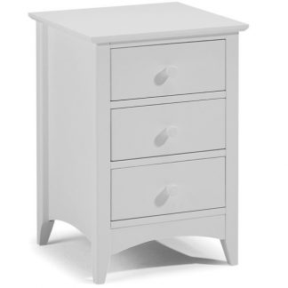 Cameo 3 Drawer Bedside - Dove Grey