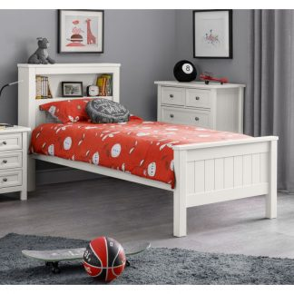Maine-Bookcase-Bed---Surf-White