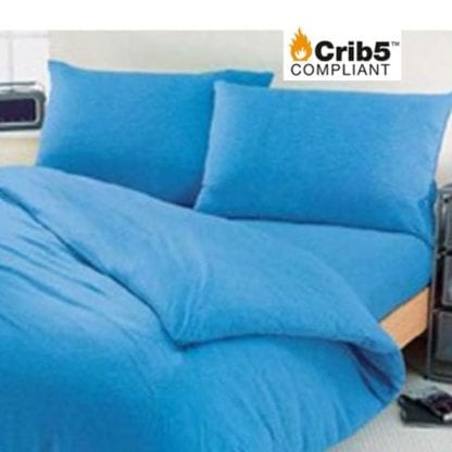 Double Crib 5 bedding pack blue